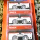 Sony 3MC-60B Microcassette - 3 Pack (Discontinued by Manufacturer)
