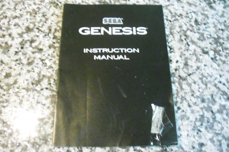 Sega Genesis Instruction Manual