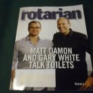 The Rotarian: Rotary's Magazine, December 2014, Matt Damon and Gary White Talk Toilets