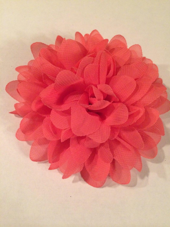 Chiffon Flower - Shrimp - DIY, Craft, bow, headband