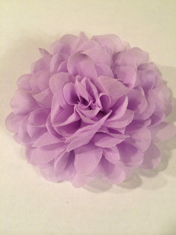Chiffon Flower - light purple - DIY, Craft, bow, headband