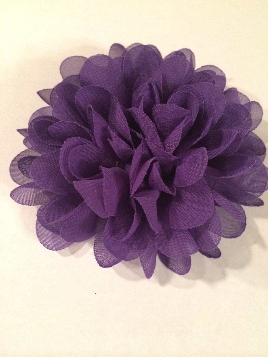 Chiffon Flower - purple - DIY, Craft, bow, headband