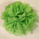 Chiffon Flower - lime green - DIY, Craft, bow, headband