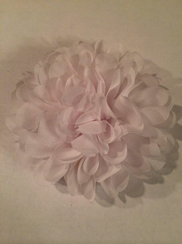 Chiffon Flower - White - DIY, Craft, bow, headband