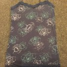 Aeropostale gray floral, lace tank top shelf bra size s