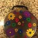 Round Tin Purse Floral design