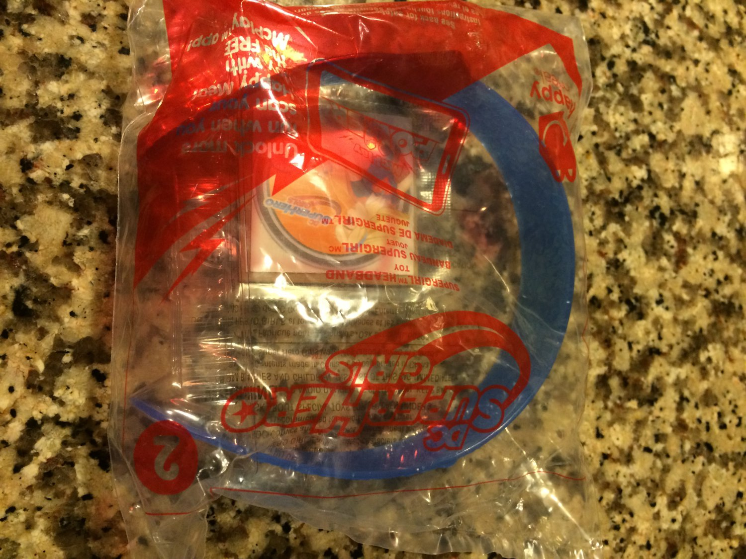 McDonalds ~ DC SUPER HERO (Girls) #2 ~SUPERGIRL HEADBAND ~ 2016