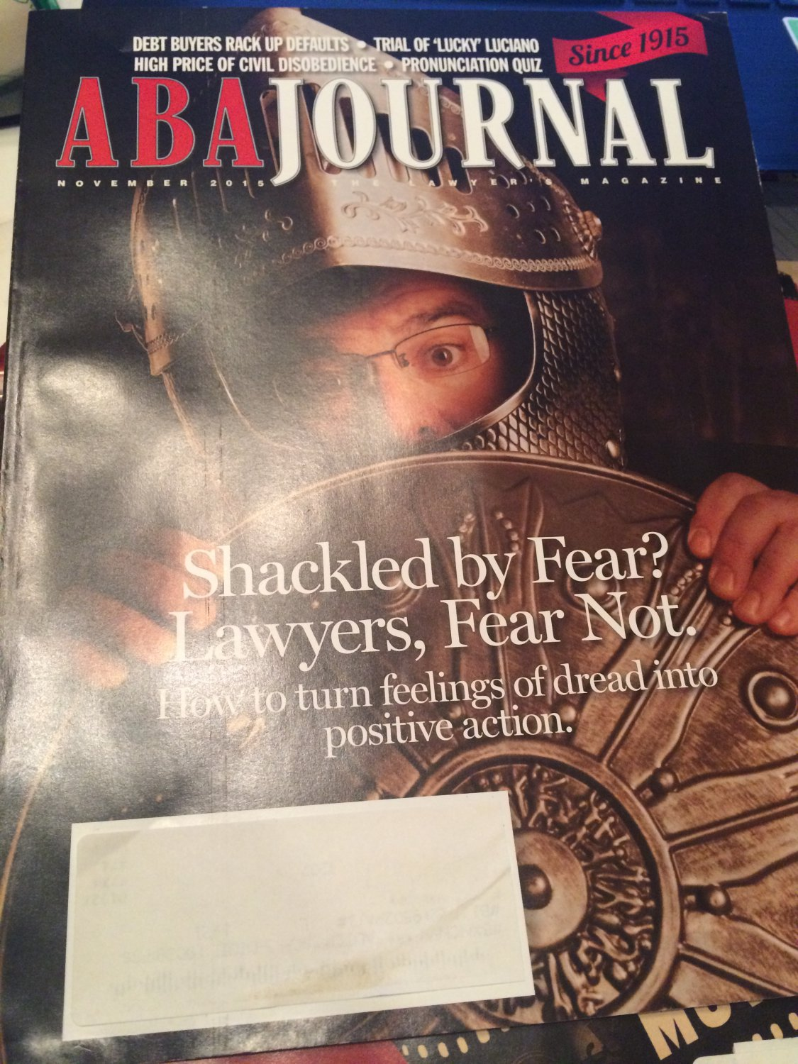ABA Journal: The Lawyer's Magazine, Vol. 101, November 2015 by American Bar Association