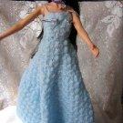 Chrochet Blue Barbie Dress In Shell Stich