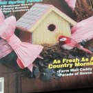 21 Creative Project For Plastic Canvas Birdhouse Wreath Rose Luncheon Set