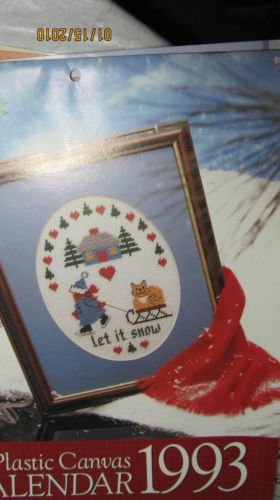 Plastic Canvas Calendar For 1993 - Let It Snow Picture - Coasters