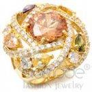 multi color spiral dome ring