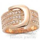golden cz belt ring