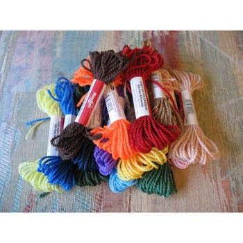 NEEDLOFT Plastic Canvas Craft Yarn Lot of 15