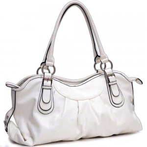 Womens	Front Pleated Soft Tote Bag