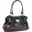 Shinny fashion shoulder bag              Black Brown