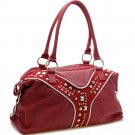Designer inspired shoulder bag    Burgundy Red