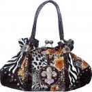 Animal & flower print  shoulder bag