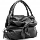 Dasein hobo bag with front butterfly knot     Black