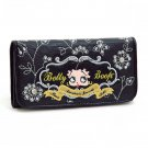 Betty Boop Checkbook Wallet w/ floral and rhinestone embroidery
