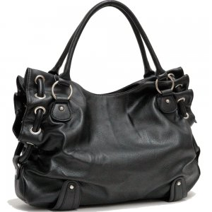 Fashion soft top zip tote bag