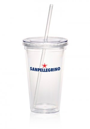 Straight Straw Clear Tumbler