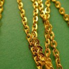 5 Meters of Golden Plated Cross Chain 3mm by 2mm