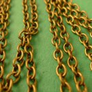 5 Meters of Antique Bronze Cross Chain 3mm by 4mm