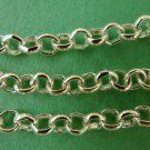 5 Meters Silver Coloured Cross Chain, 3mm