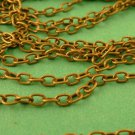 5 meters Antique Bronze Cross Chain 3mm x 2mm