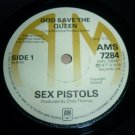 Sex Pistols God Save The Queen A&M original !