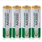BTY 4pcs 1.2V 3000mAh Rechargeable AA Battery