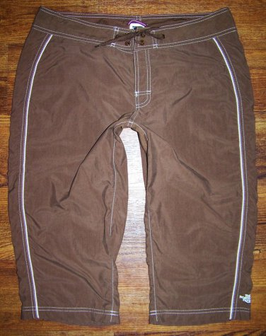 "Womens the North Face ""Overboard Capri"" AH0E Brown Crop Pants Size 8"