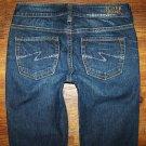 Womens Silver Brand AIKO Dark Stretch Boot Cut Jeans Size 25 x 33