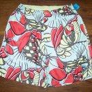 NAT NAST Hawaiian Floral Lined Swimsuit Cabana Shorts Swim Trunks Size S * MINT