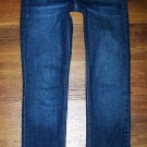 Womens J Crew MATCHSTICK Dark Stretch Slim Straight Jeans Size 28 x 32