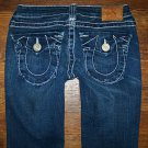 Womens True Religion JOEY BIG T HERITAGE Twisted Flare Jeans 27 x 32