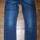 AG Adriano Goldschmied TOMBOY AGed 5 Yr Cobalt Relaxed Straight Jeans 25 x 33