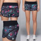 NEW LULULEMON Run Speed Shorts CURIOUS JUNGLE Gym Running Crossfit Size 4