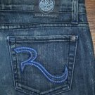 OLD STYLE Rock & Republic COSBIE Funky Echo Straight Jeans 28 x 28 SHORT - NICE