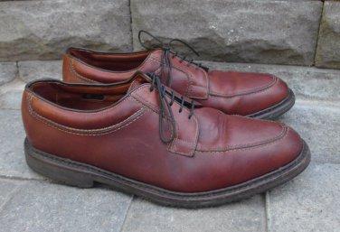 Mens ALLEN EDMONDS Brown Leather WILBERT Split Toe Oxford Shoes USA Size 12