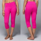 LULULEMON Seamlessly Street Crop Jeweled Magenta Size 8 Pink Yoga Crops NWT