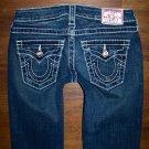 TRUE RELIGION DISCO JOEY BIG T Bling Flare Jeans Women's Size 25 x 33