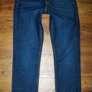 J CREW Dark MATCHSTICK Preppy Stretch Slim Straight Jeans Womens Size 28 x 31