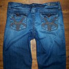 KUT from the Kloth Mid Rise Stretch Back Flap Crop Jeans Women's Size 10