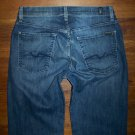 7 SEVEN FOR ALL MANKIND RELAXED Dark Stretch Boot Jeans Men's Size 32 x 31.5
