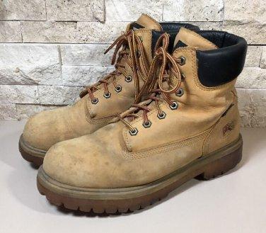 MEN'S TIMBERLAND 65030 PRO SOFT TOE 6 INCH WHEAT WATERPROOF WORK BOOTS 10