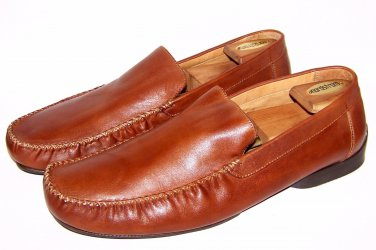 Mens Gordon Rush Loafers Brown Leather Dress Shoes Size 13