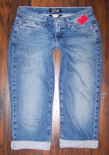 Lucky Brand Easy Rider Crop Capri Blue Denim Jeans Size 4/27