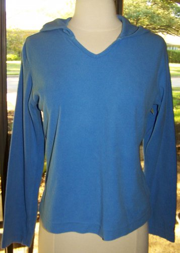 Womens Columbia Fleece Blue Pullover Hoodie Size S
